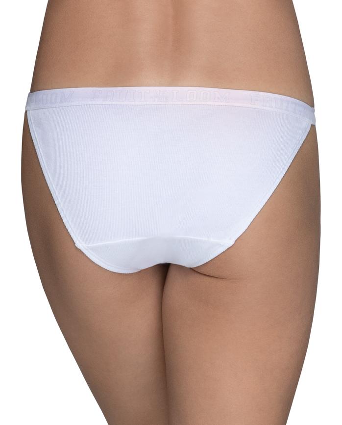 Young Women's Ribbed High Leg Bikini, 3 Pack ASSORTED