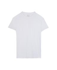 Men's White Active Cotton Blend Crew, 8 Pack 0A6