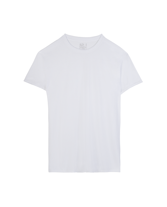 Men's White Active Cotton Blend Crew, 8 Pack