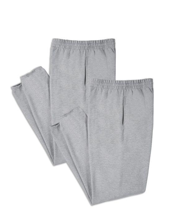 Men's EverSoft Fleece Elastic Bottom Sweatpants, 2 Pack MED GREY HEATHER