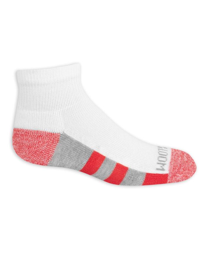 Boys' Cushioned Ankle Socks, 10 Pack BRIGHT WHITE/VIBRANT ORANGE, BRIGHT WHITE/DIRECTOR BLUE,BRIGHT WHITE /LEMONCH,BRIGHT WHITE/MED GREY H, BRIGHT WHITE/HIGH RISK RED, BRIGHT WHITE/MED GR