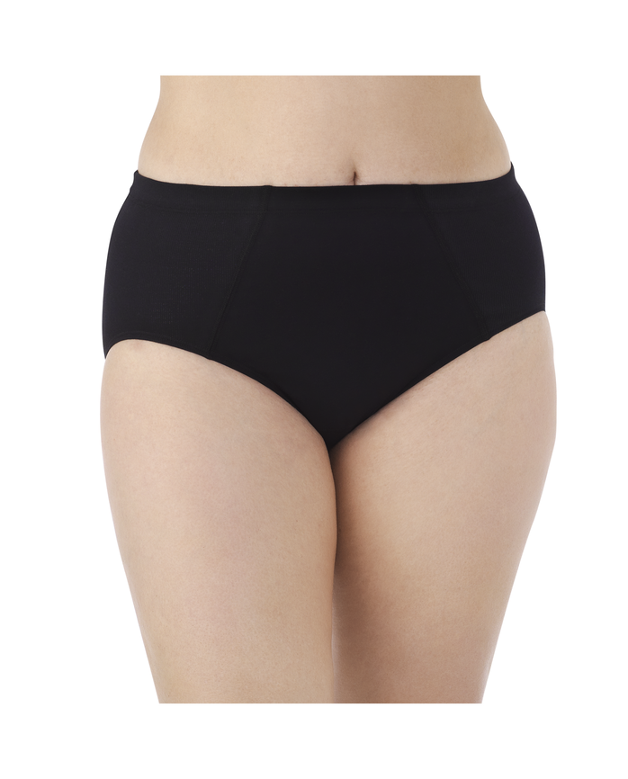 Women's  Fit for Me by Flexible Fit Brief, 4 Pack Assorted