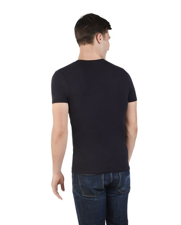 Men's Limited Edition Printed Logo T-Shirt, 1 Pack Black