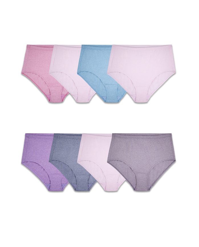 Women's Plus Assorted Beyondsoft Brief Panty, Panty, 8 Pack