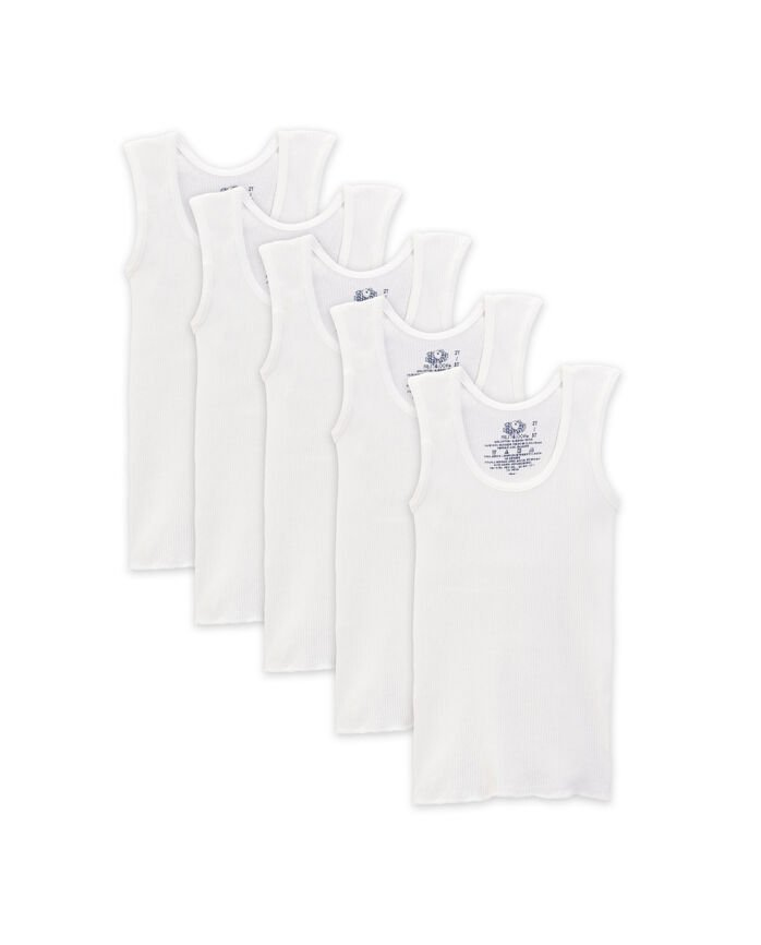 Toddler Boys' White Tank, 3 pack