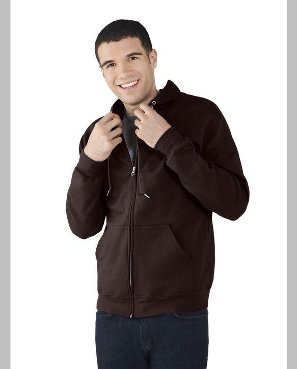 Men's EverSoft Fleece Full Zip Hoodie Jacket, 1 Pack Deep Chianti