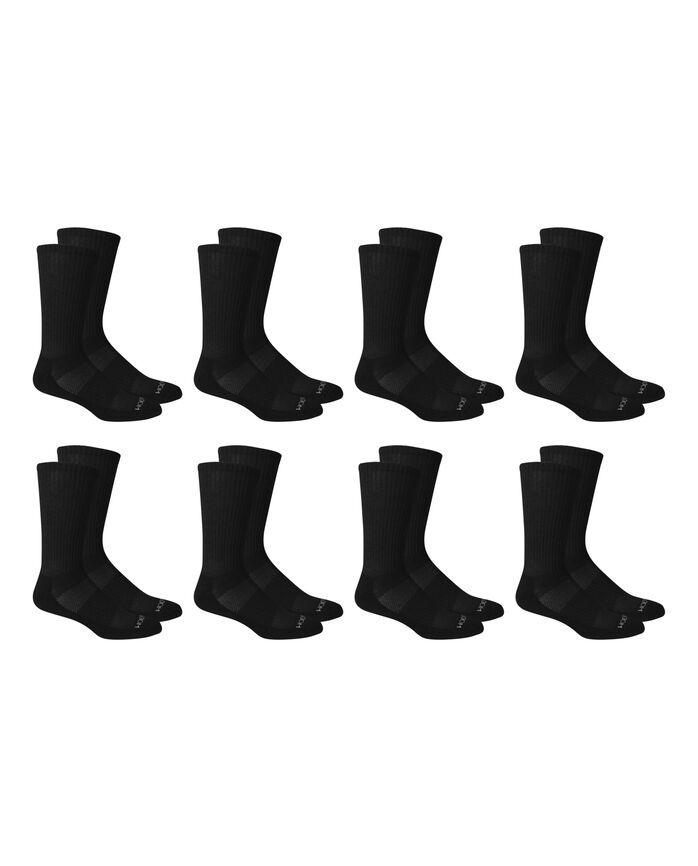 Men's Breathable Crew Socks Pair, 8 Pack