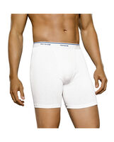 Men's 4 Pack Classic White Boxer Briefs Extended Sizes White