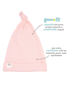 Baby Girls' Grow & Fit Hats, 2 Pack Pink Multi