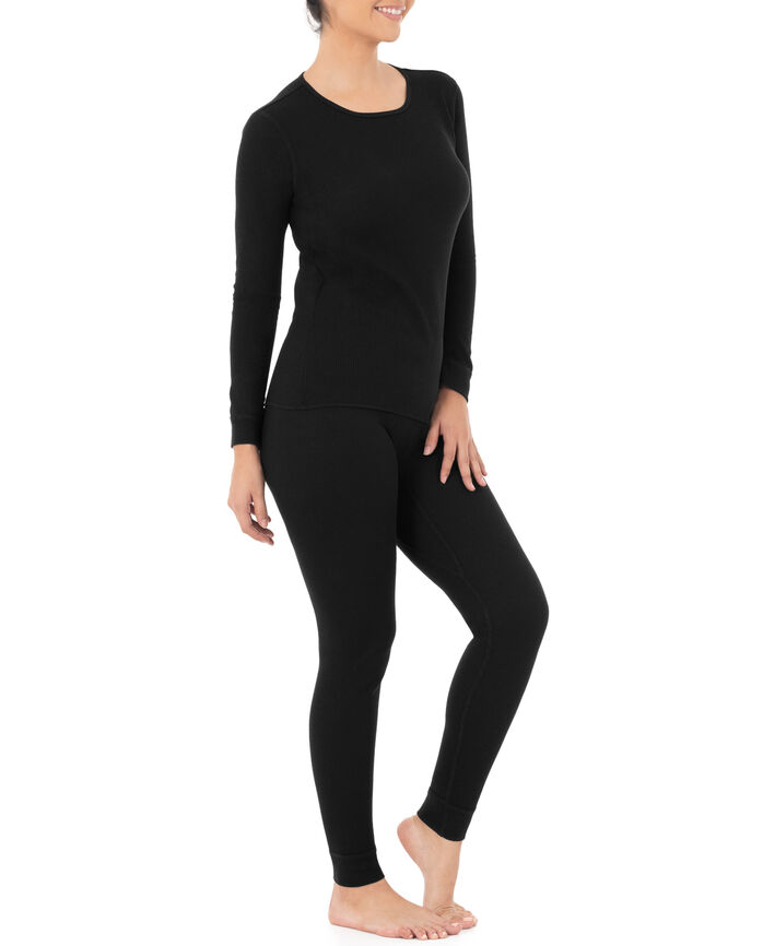 Women's Thermal Crew Top & Bottom Set