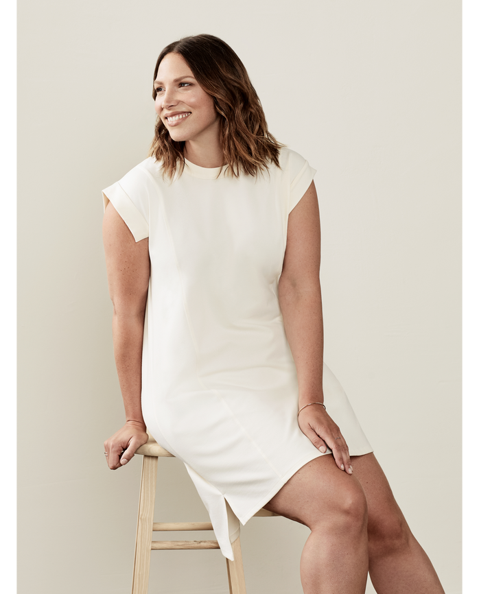 Women's Seek No Further™ Pleated Ponte Dress BF Ivory
