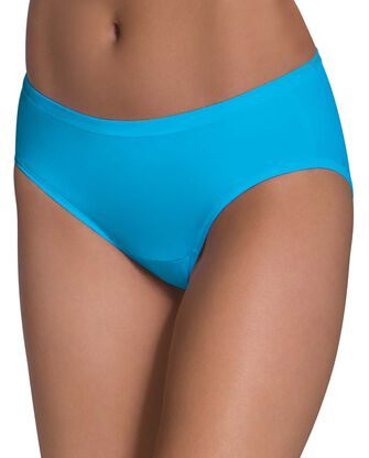 Women's Assorted Comfort Covered Cotton Hipster Underwear, 6 Pack