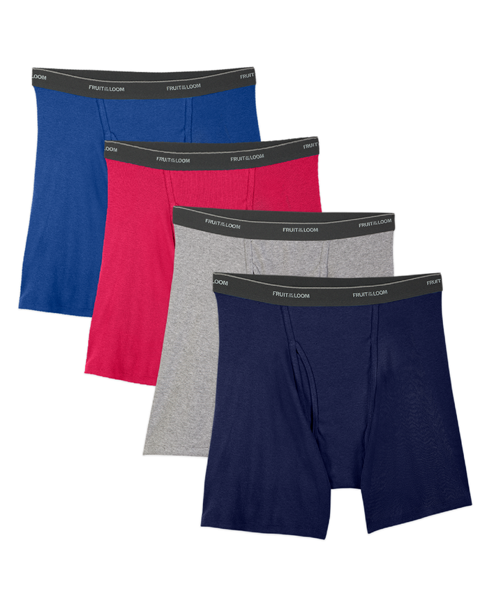 Men's 4 Pack Assorted Boxer Briefs Extended Sizes