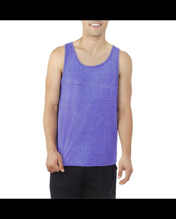 Men's EverSoft® Micro Stripe Tank Top, 1 Pack Cobalt Stripe