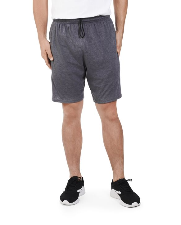 Big Men's Dual Defense UPF Jersey Shorts, 2 Pack Charcoal Heather