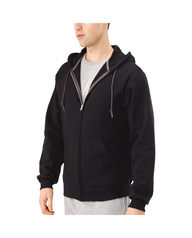 Men's EverSoft Fleece Full Zip Hoodie Jacket Black