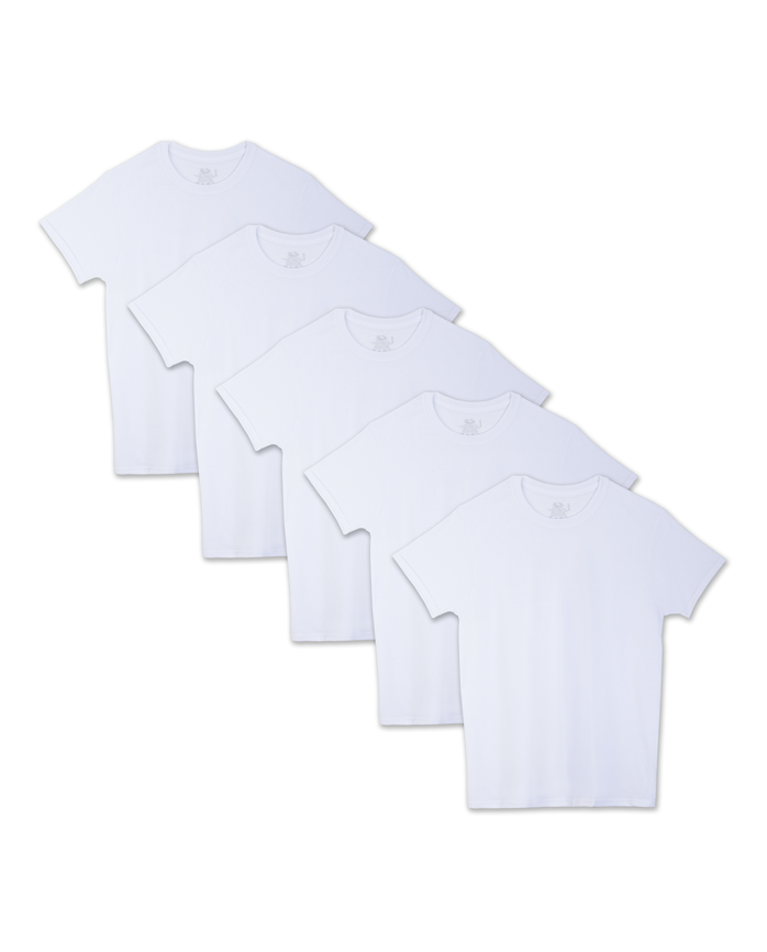 Men's Beyondsoft White Crew, 5-pack