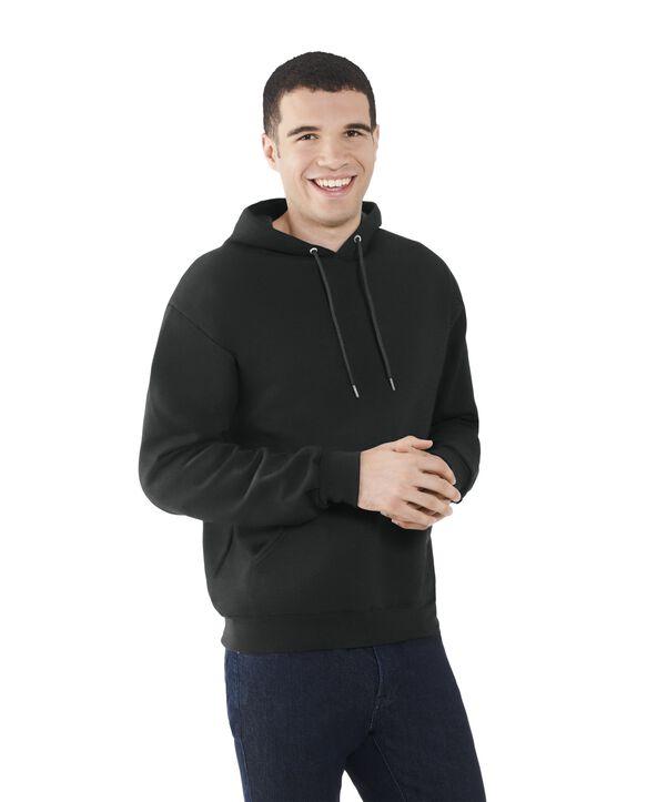 Men's EverSoft Fleece Pullover Hoodie Sweatshirt, 1 Pack Black