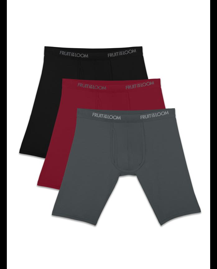 Men's Premium Luxe Assorted Long Leg Boxer Briefs, 3 Pack