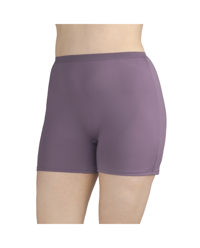 Women's  Fit for Me by Microfiber Slip Short, 4 Pack Assorted