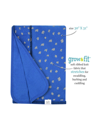Baby Boys' Grow & Fit Blankets, 2 Pack Blue Multi