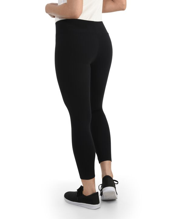 Women's Seek No Further Wide Waistband Ponte Leggings Brilliant Black