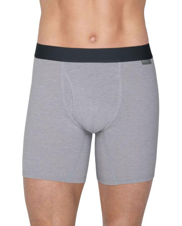 Men's Crafted Comfort  Black Heather Boxer Brief, 3 Pack Black Heather