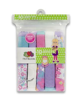 Toddler Girls' Assorted Cotton Brief Underwear, 10 Pack