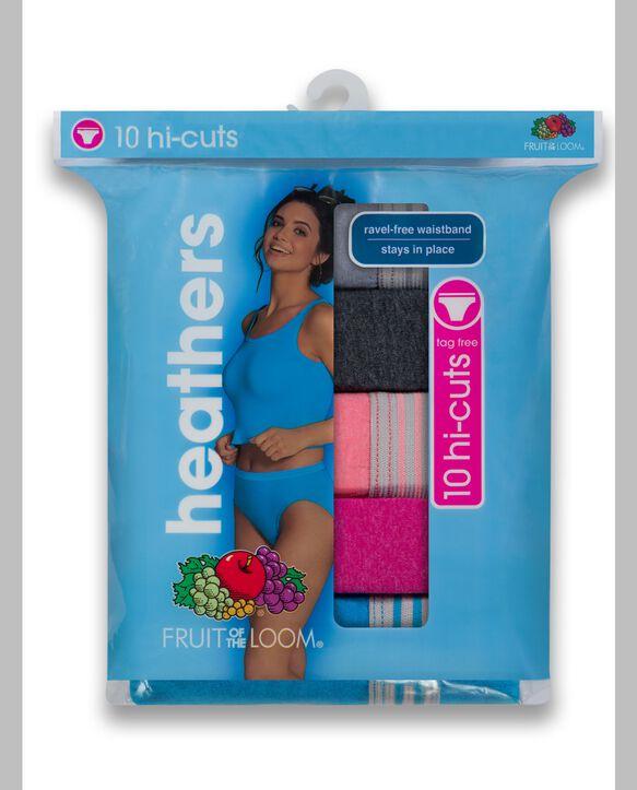 Women's Heather Hi Cut, 10 Pack