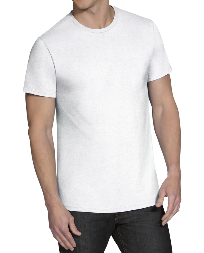 Men's Beyondsoft White Crew Neck T-Shirts, 5 Pack