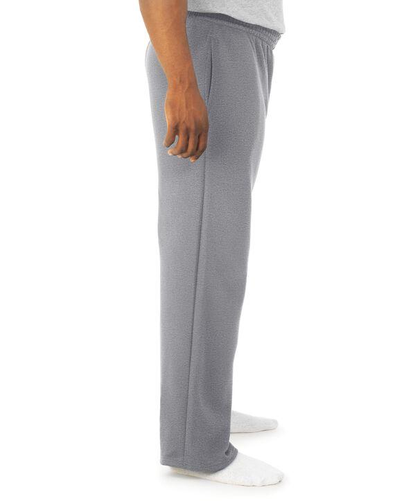 Men's Super Soft Fleece Open Bottom Sweatpants, 1 Pack Athletic Heather
