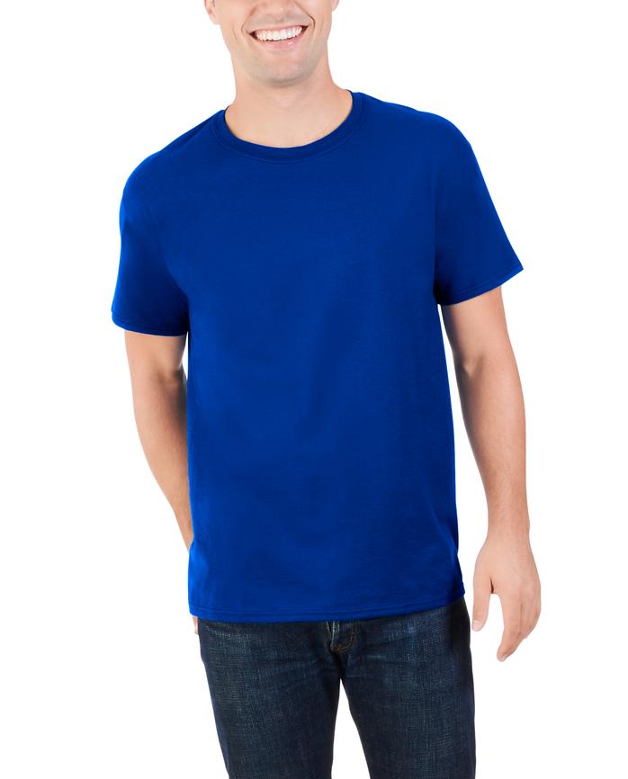 Big Men's Dual Defense® Crew Neck T-Shirt, 1 Pack Cobalt