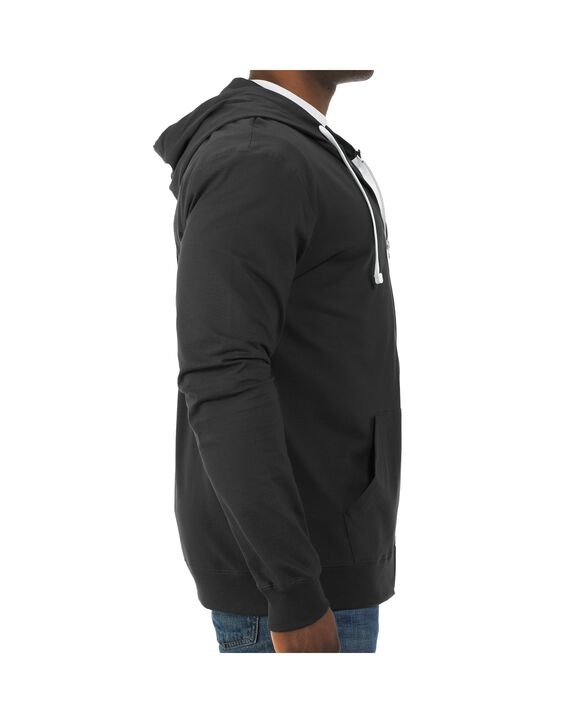 Soft Jersey Full Zip Hooded Jacket, 1 Pack Black