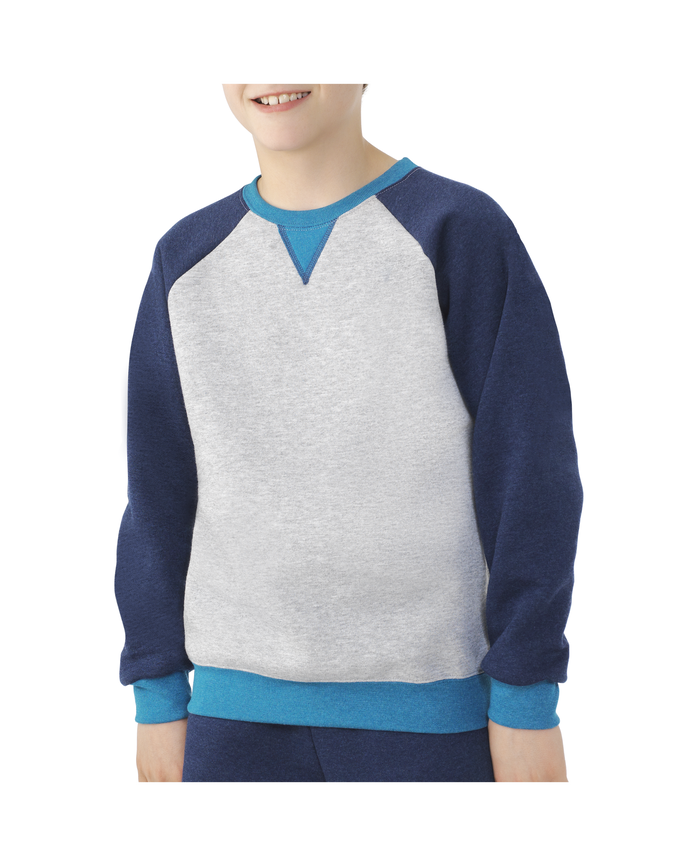 Boys Fleece Raglan Crewneck Sweatshirt