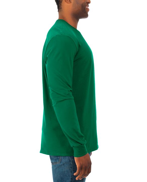 Soft Long Sleeve Crew Neck T-Shirt, 2 Pack Clover