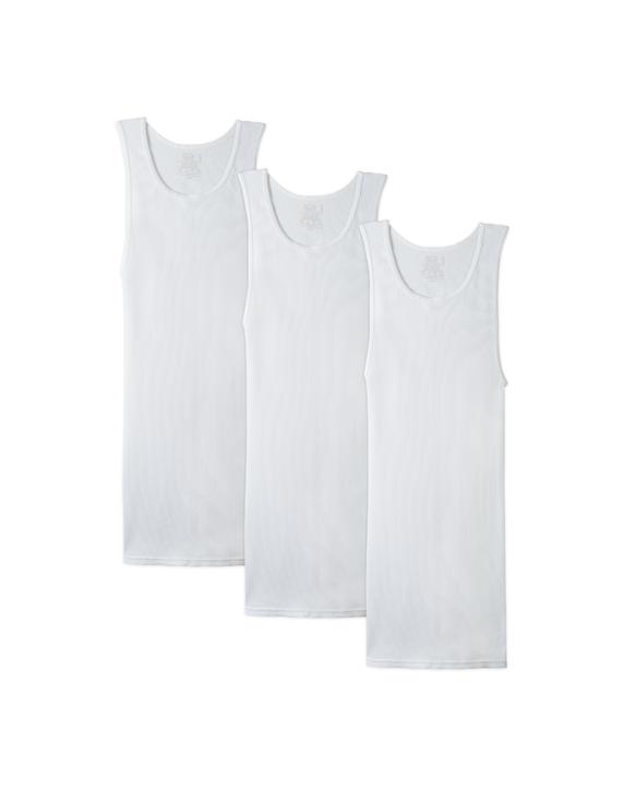 Big Men's White A Shirts, 3 Pack White