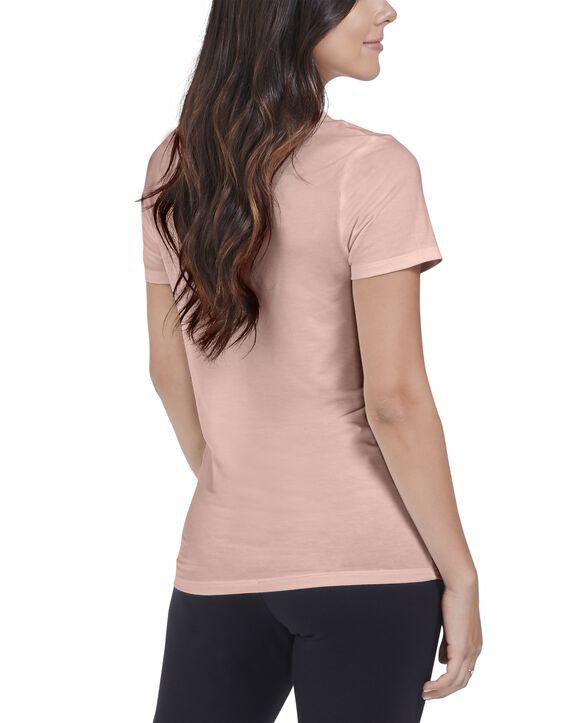 Women's  Seek No Further Short Sleeve V-Neck T-shirt Bare Pink