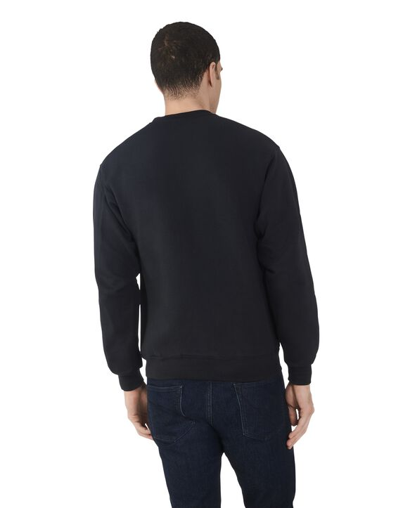 Men's EverSoft Fleece Crew Sweatshirt, 1 Pack Black