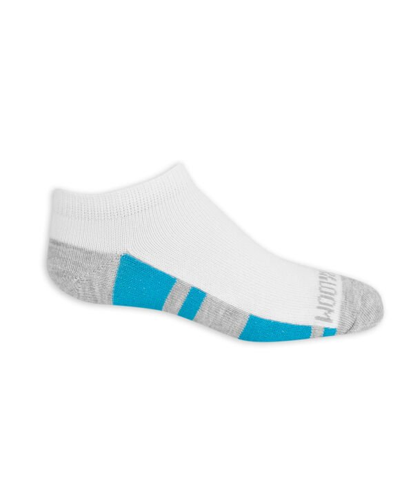 Boys' Lightweight No Show Socks, 10 Pack BRIGHT WHITE/LEMONCHELLO, BRITE WHITE/HIGH RISK RED, BRIGHT WHITE/VIBRANT ORANGE,BRIGHT WHITE/MED GREY HEATHER,BRIGHT WHITE/DIRECTOR BLUE, BRIGHT WHIT
