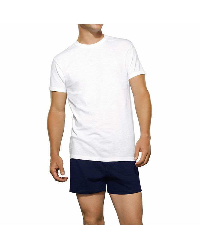 Men's White Crew Neck T-Shirts 7 Pack