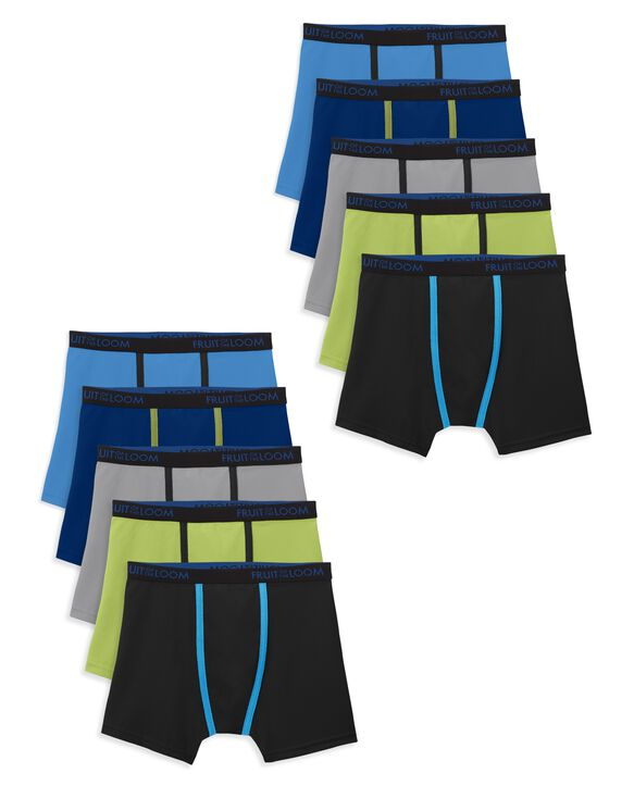 Boys' Breathable Boxer Briefs, 10 Pack