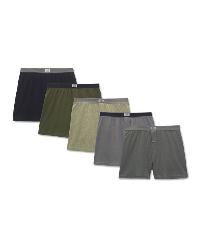 Men's 5 Pack Soft Stretch Knit Boxer