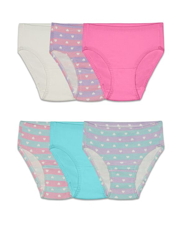 Toddler Girls' Assorted Flexible Fit Briefs, 6 Pack Assorted