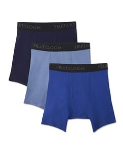 Men's Breathable 3 Pack Assorted Color Boxer Brief Extended Sizes