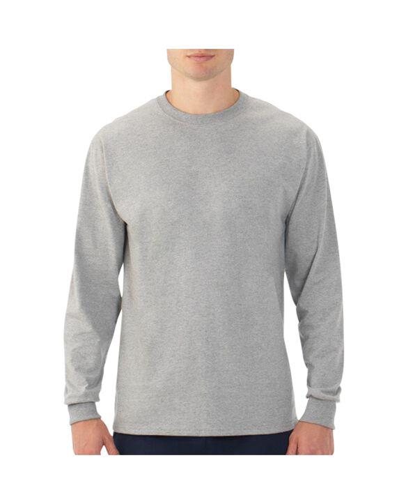 Men's EverSoft Long Sleeve T-Shirt, 1 Pack Steel Gray Heather