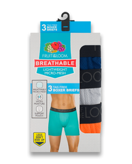 Breathable Lightweight Micro-Mesh Boxer Brief, 2XL Assorted