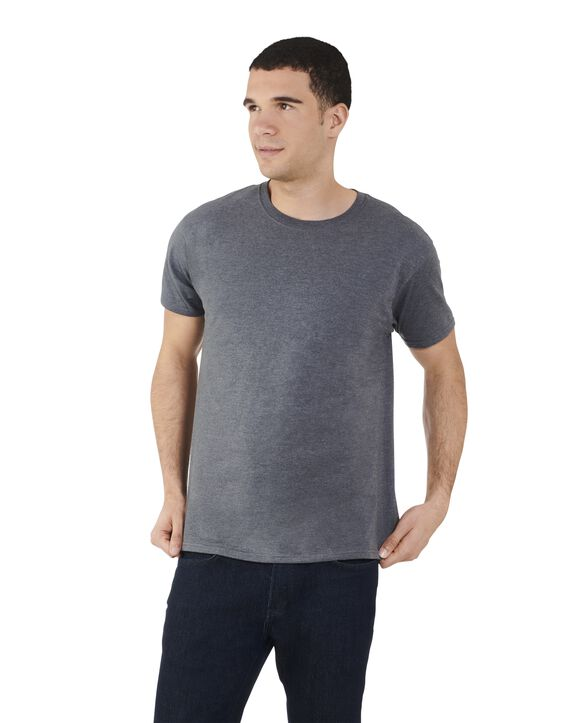 Men's Dual Defense UPF Short Sleeve Crew T-Shirt, 1 Pack Charcoal Heather