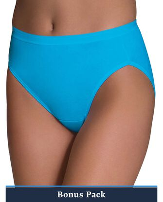 women's Assorted Cotton Hi-Cut Panty, 9 Pack