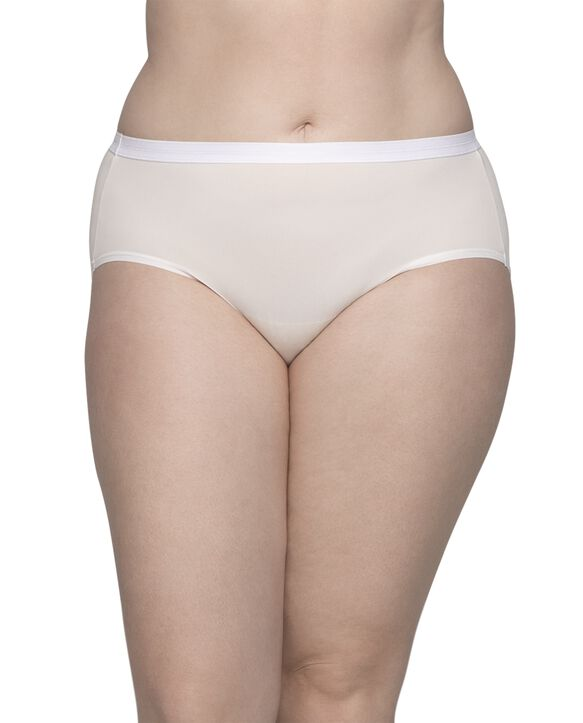 Women's Plus Size Fit for Me® by Fruit of the Loom® Microfiber Brief Panty, 6 Pack Assorted