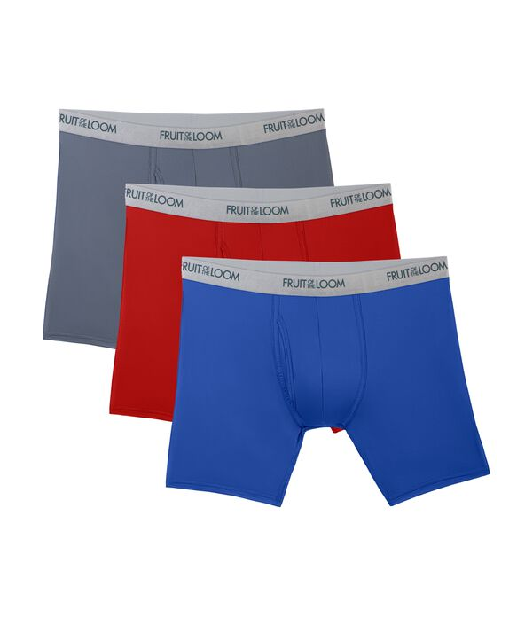 Men's EverLight Assorted Boxer Briefs, 3 Pack ASSORTED